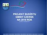 Projekt budżetu Gminy Czersk 2018 r.